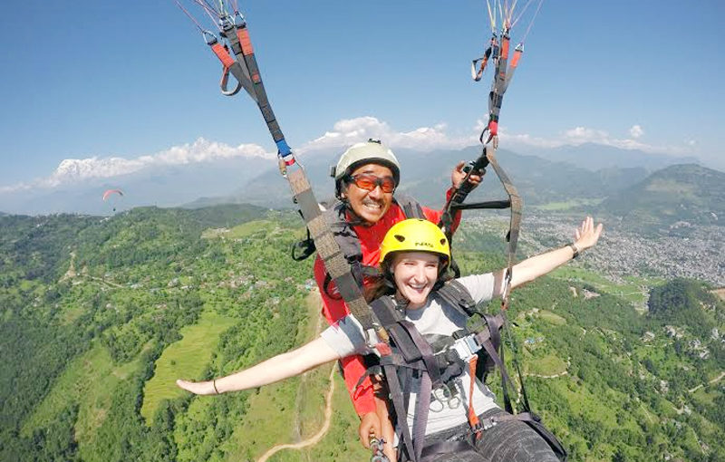 paragliding flight in Nepal, Authentic Volunteer, volunteer nepal 1 week